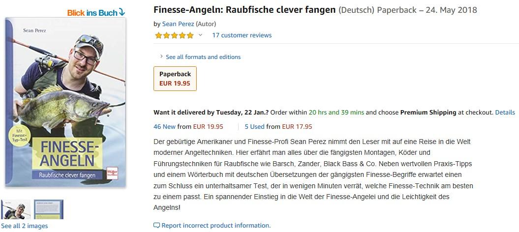 Sean Perez Finesse Angeln Buch
