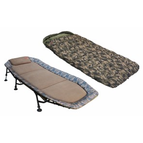 Karpfenliege Bedchair Camo-Set + Schlafsack