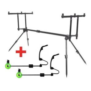 Rod Pod Compact 3 Ruten + 2 Swinger GRATIS