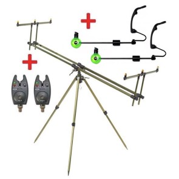 Rod Pod Select 3 Ruten + 2 Swinger + 2 elektr. Bissanzeiger GRATIS
